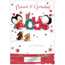 Nannie+Grandad Cute 50 Christmas Cards