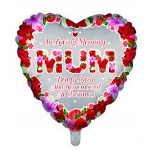 Foil Balloon Xmas Remembrance Mum Heart