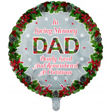 Foil Balloon Xmas Remembrance Dad Round