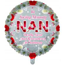 Foil Balloon Xmas Remembrance Nan Round