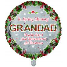 Foil Balloon Xmas Remembrance Grandad