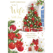 Wife Trad 50 Xmas Card