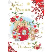 Nanna Cute 50 Xmas Card
