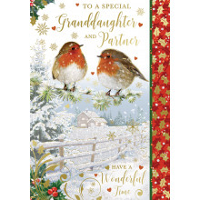 Grand-daughter+Partner Trad 50 Christmas Cards