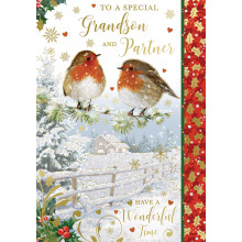 Grandson+ Partner Trad 50 Christmas Cards