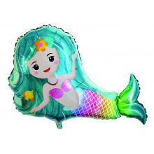 "23x29"" Mermaid Jumbo Shaped Foil Balloon"