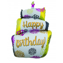 "25x43"" Cake Jumbo Shaped Foil Balloon"